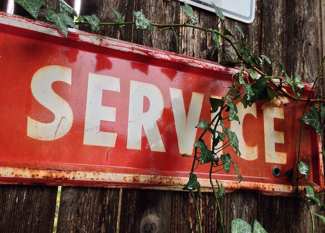 Servicing Sign