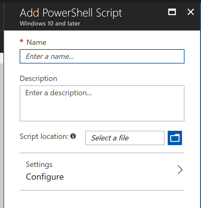 PowerShell Scripts Window